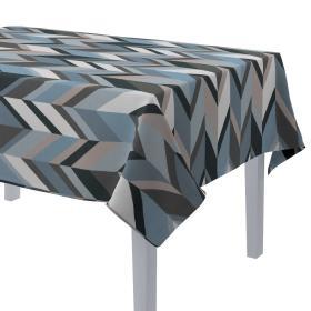 Dekoria.pl Obrus prostokątny, geometryczny wzór w niebiesko-beżowej kolorystyce, 130 × 160 cm, Vintage 70's