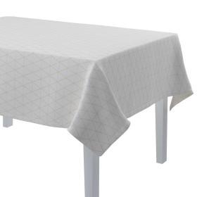 Dekoria.pl Obrus prostokątny, beżowe trójkąty na kremowo-białym tle, 130 × 210 cm, Sunny