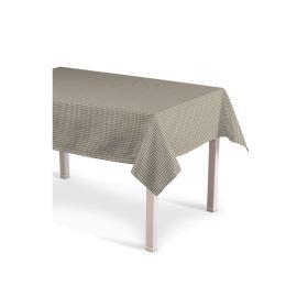 Dekoria.pl Obrus prostokątny, beżowo biała krateczka (0,5x0,5cm), 130 × 180 cm, Quadro