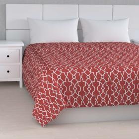 Dekoria.pl Narzuta pikowana w pasy, czerwony w biały marokański wzór, szer.260 × dł.210 cm, Gardenia