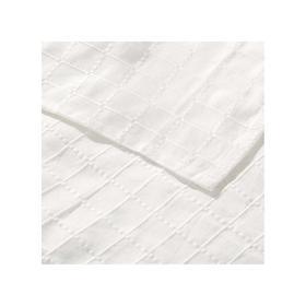 Dekoria.pl Komplet Milena white 260x260cm pled + 2 poszewki -50%, 260 × 260 cm