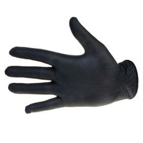 Rękawiczki nitrylowe czarne rozmiar M - 100 sztuk
