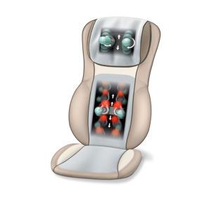 Mata do masażu shiatsu MG 295 - HD-3D (kremowa)