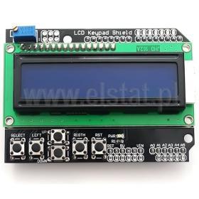 Moduł LCD z klawiaturą; niebieski