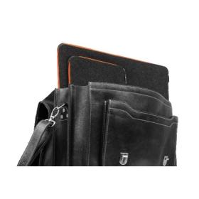 PROMO SET Torba biznesowa ze skóry black TC8+ etui EPD1 na laptop GRAPHITE