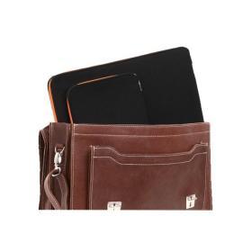 PROMO SET Torba skórzana biznesowa brown TC8+ etui EPD1 na laptop BLACK