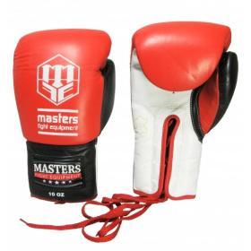 Rękawice bokserskie skórzane sznurowane RBT-600