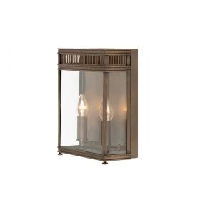 Lampa zewnętrzna latarnia naścienna kinkiet ogrodowa 2 źródła światła kolor ciemny brąz