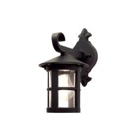 Lampa zewnętrzna latarnia naścienna kinkiet ogrodowa czarna