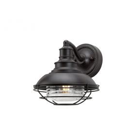 Lampa zewnętrzna latarnia naścienna ogrodowa ciemna oprawa kute żelazo