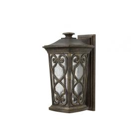 Lampa zewnętrzna latarnia naścienna ogrodowa ciemny brąz