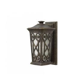 Lampa zewnętrzna latarnia naścienna ogrodowa ciemny brąz mała