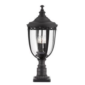 Lampa zewnętrzna latarnia stojąca niska ogrodowa 3 źródła światła czarna