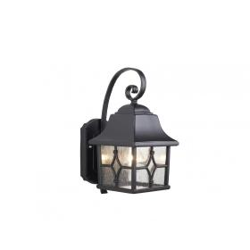 Lampa zewnętrzna naścienna ogrodowa latarnia czarna