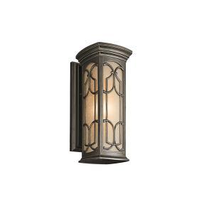 Lampa zewnętrzna ogrodowa naścienna kinkiet ciemny brąz