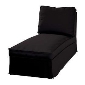 Dekoria.pl Pokrowiec na szezlong/ leżankę Ektorp wolnostojący prosty tył, Black (czarny), 63 x 166 x 73 cm, Cotton Panama
