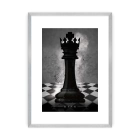 Dekoria.pl Plakat Chess I, 40 x 50 cm, Ramka: Srebrna