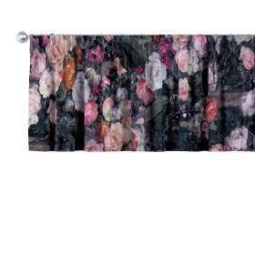 Dekoria.pl Lambrekin na taśmie marszczącej, wielobarwne kwiaty na ciemnym tle, 390 × 40 cm, Gardenia