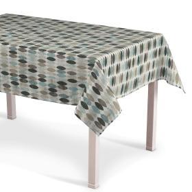 Dekoria.pl Obrus prostokątny, wzory w odcieniach błekitu, beżu i czarnego na jasnym tle , 130 × 130 cm, Modern