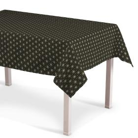 Dekoria.pl Obrus prostokątny, czarno-beżowy ze złotą nitką, 130 × 250 cm, Black & White