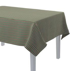 Dekoria.pl Obrus prostokątny, pasy w odcieniach zieleni i czerwieni, 130 × 180 cm, Londres
