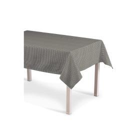 Dekoria.pl Obrus prostokątny, szaro biała krateczka (0,5x0,5cm), 130 × 210 cm, Quadro