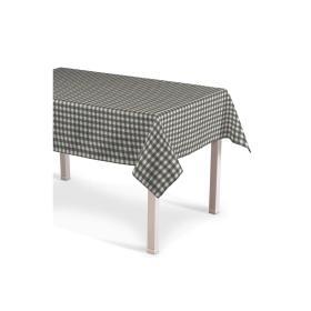 Dekoria.pl Obrus prostokątny, szaro biała kratka (1,5x1,5cm), 130 × 280 cm, Quadro