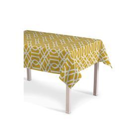 Dekoria.pl Obrus prostokątny, żółty w białe wzory, 130 × 250 cm, Comics