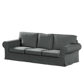 Dekoria.pl Pokrowiec na sofę Ektorp 3-osobową, nierozkładaną, szary melanż, 218 x 88 x 73 cm, Madrid