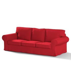 Dekoria.pl Pokrowiec na sofę Ektorp 3-osobową, rozkładaną, PIXBO, Scarlet Red (czerwony), 222 x 98 x 76 cm, Cotton Panama