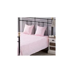 Dekoria.pl Komplet Milena pink rosa 260 x 260 cm pled + 2 poszewki -50%, 260 × 260 cm