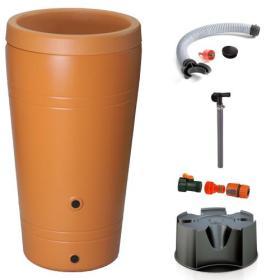 Zbiornik na wodę deszczówkę TUBE 230 l + przyłącza, podstawa