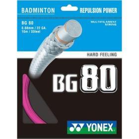 Naciąg badminton Yonex BG 80 Różowy