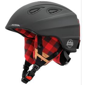 Alpina Sports Alpina Kask narciarski unisex Grap 2.0 Le Black-Lumberjack Matt 57-61, BEZPŁATNY ODBIÓR: WROCŁAW!