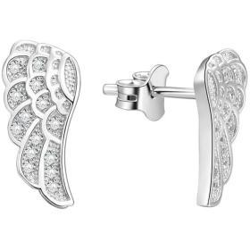 Beneto SrebrneKolczyki Angel wings AGUP1182 srebro 925/1000, BEZPŁATNY ODBIÓR: WROCŁAW!