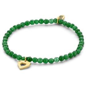 CO88 Zielony jadeit bransoletka z z sercem 865-180-090160-0000, BEZPŁATNY ODBIÓR: WROCŁAW!