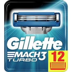 Gillette głowice wymienne Mach3 Turbo – 12 szt, BEZPŁATNY ODBIÓR: WROCŁAW!