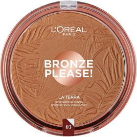 Loreal Paris La Terra ( Bronze r) 18 g ( Bronze r) puder do twarzy i ciała (cień 03 Amalfi Medio), BEZPŁATNY ODBIÓR: WROCŁAW!