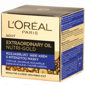 Loreal Paris Rozjaśnianie krem na noc z intensywnością maska Nutri Gold (nadzwyczajne twarzy olej) 50 ml, BEZPŁATNY ODBIÓR: WROCŁAW!