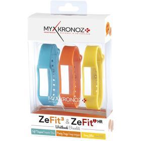MyKronoz paski dla ZeFit3 i ZeFit3 HR, 3 sztuki - niebieski, pomarańczowy, żółty, BEZPŁATNY ODBIÓR: WROCŁAW!