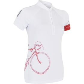Sensor Damska koszulka rowerowa Cyklo Tour White, BEZPŁATNY ODBIÓR: WROCŁAW!