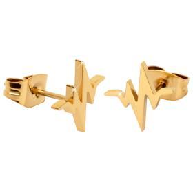 Troli Oryginalne kolczyki platerowane stali Heartbeat, BEZPŁATNY ODBIÓR: WROCŁAW!