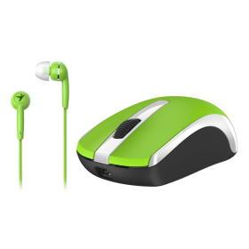 Genius mysz bezprzewodowa MH-8100 + słuchawki douszne - zielone (31280001404), BEZPŁATNY ODBIÓR: WROCŁAW!