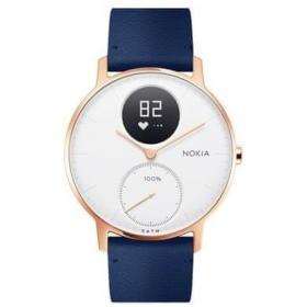 Nokia Steel HR (36mm)- Rose Gold w/ Blue Leather + Grey Silicone wristband, BEZPŁATNY ODBIÓR: WROCŁAW!