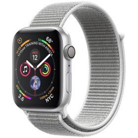 Apple smartwatch Watch Series 4, 44mm, koperta w kolorze srebrnym/biały pasek, BEZPŁATNY ODBIÓR: WROCŁAW!