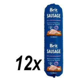 Brit Sausage Chicken & Rabbit 12 x 800 g, BEZPŁATNY ODBIÓR: WROCŁAW!