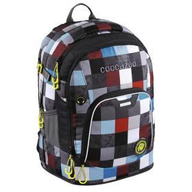 CoocaZoo plecak szkolny Coocazoo RayDay, Checkmate Blue Red, BEZPŁATNY ODBIÓR: WROCŁAW!