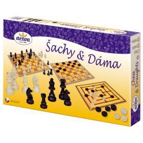 DETOA gry towarzyskie w pudełku: szachy i warcaby 35x23x4 cm, BEZPŁATNY ODBIÓR: WROCŁAW!