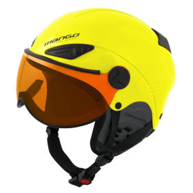 Mango kask narciarski dziecięcy Rock Pro żółty 53 - 55, BEZPŁATNY ODBIÓR: WROCŁAW!