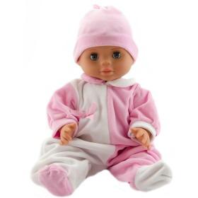 Teddies lalka dziecko 40 cm, twarde ciało, biało różowe śpioszki + różowa czapka, BEZPŁATNY ODBIÓR: WROCŁAW!